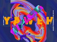 YAWEH - colorful poster