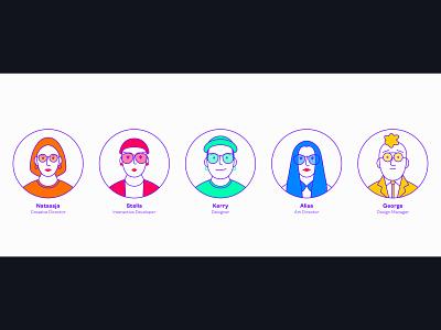 Design Team icons icon user profile glasses eyewear design ui girl illustration charachter