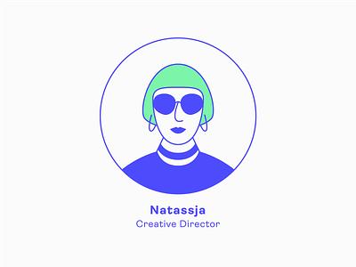 Design Team | Natassja - Creative Director team profile human icon girl series illustration charachter