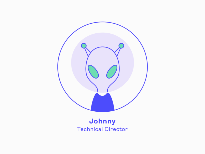 Design Team | Johnny - Technical Director team alien profile icon series illustration charachter