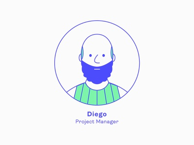 Design Team | Diego - Project Manager avatar icons avatar icon team series illustration charachter