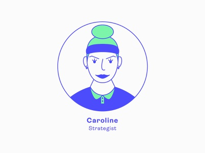 Design Team | Caroline - Strategist team profile avatar icons avatar ui girl series illustration charachter