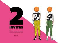 Two Dribbble Invites!
