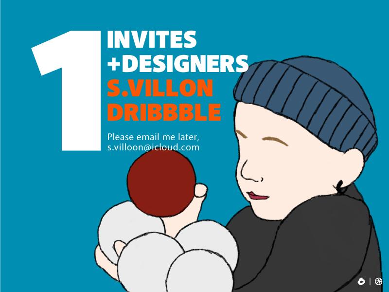 One Dribbble Invites! child invitation invite dribbble draft kids charachter illustrations