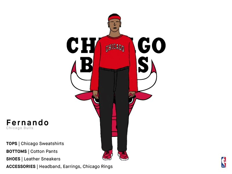 Fernando | Chicago Bulls bulls chicago bulls chicago sports basketball nba illustration series charachter