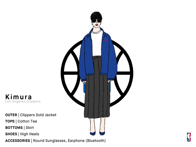 Kimura | Los Angeles Clippers clippers losangeles japanese sports girl basketball nba illustration series charachter