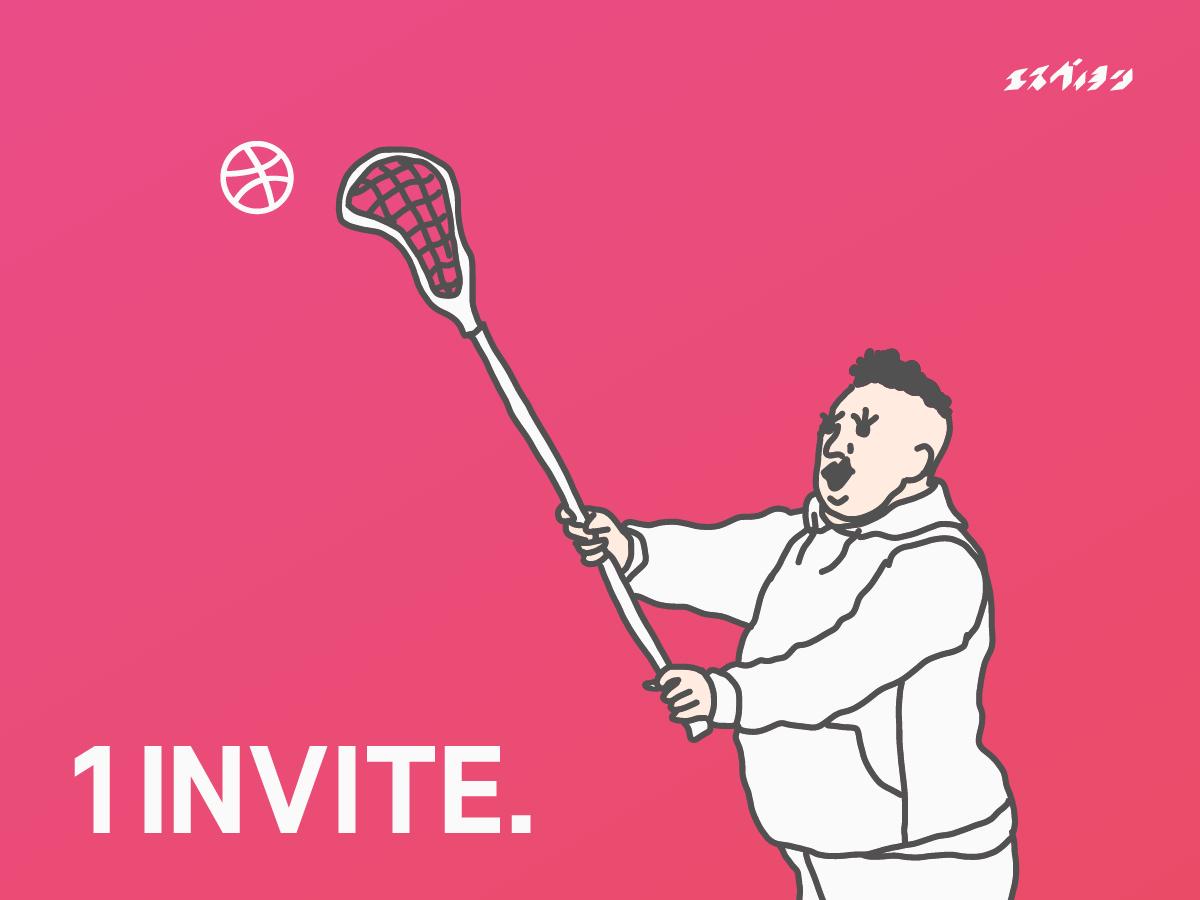 1 Dribbble Invitation dribbble invite dribbble invitation dribbble invite illustration charachter