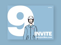 Wow, 9 Dribbble invitation