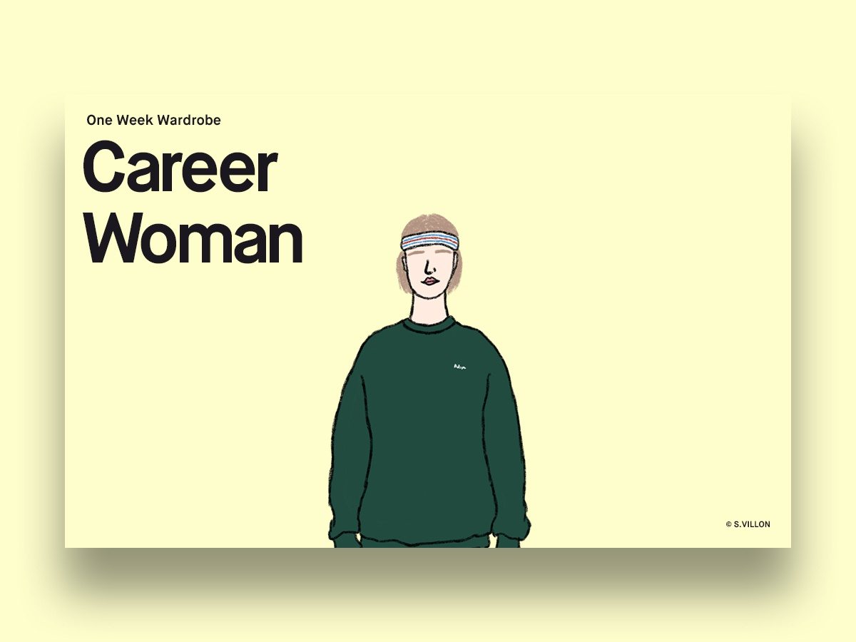 Career Woman - One Week Wardrobe career woman wardrobe one week wardrobe one week series illustration charachter