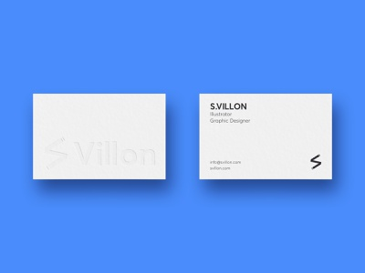 S.VILLON Business cards business cards letterpress identity graphic design card design card business card branding