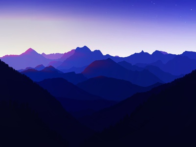 Vector Mountainview1 nature landscape illustration