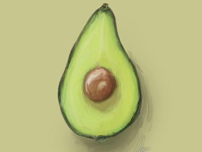 Avocado still life.