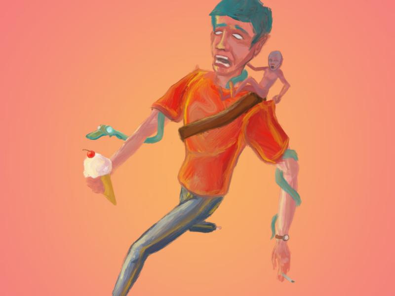 Time to run digital art artist procreate illustration