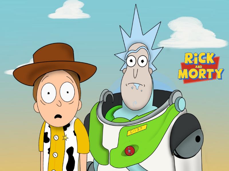 Rick & Morty X Toy Story adultswim toystory rickandmorty painting art digital artist illustration procreate