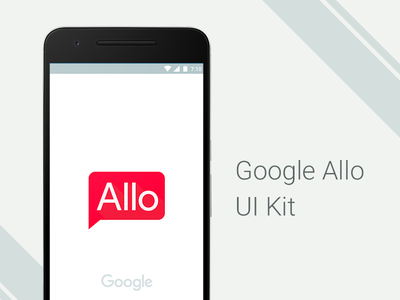 Google Allo - FREE UI Kit shout material design android messenger freebies download freepsd google uikit messaging app google allo allo
