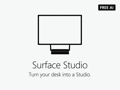 Microsoft Surface Studio Icons - FREE AI microsoft surface pc freebies surfacestudio microsoft surface