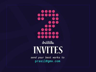 Two Dribbble Invites! giveaway dribbble invitation invite