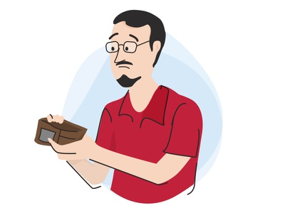 Empty Wallet transactions money wallet