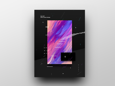 Poster Design Day 7 dailyposter dailyposterdesign graphic inpiration baugasm gradient abstract design poster