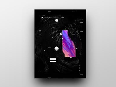 Poster Design Day 8 dailyposter dailyposterdesign graphic inpiration baugasm gradient abstract design poster