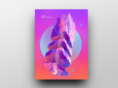 Poster Design Day 13 dailyposter dailyposterdesign graphic inpiration baugasm gradient abstract design poster