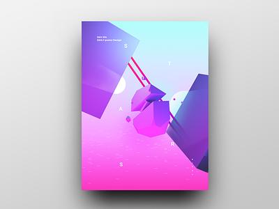 Poster Design Day 14 dailyposter dailyposterdesign graphic inpiration baugasm gradient abstract design poster