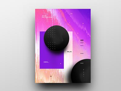 Poster Design Day 17 dailyposter dailyposterdesign graphic inpiration baugasm gradient abstract design poster