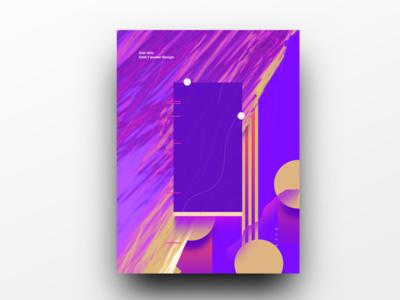Poster Design Day 24 dailyposter dailyposterdesign graphic inpiration baugasm gradient abstract design poster