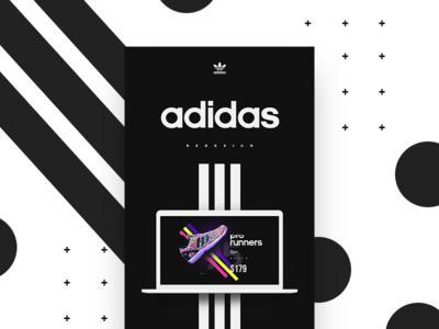 Adidas Redesign Concept modern abstract minimal casestudy rebranding sports adidasdesign redesign userinterface ux ui adidas