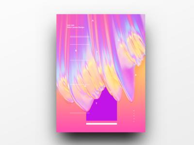 Poster Design Day 26 dailyposter dailyposterdesign graphic inpiration baugasm gradient abstract design poster