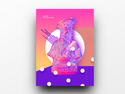 Poster Design Day 27 dailyposter dailyposterdesign graphic inpiration baugasm gradient abstract design poster