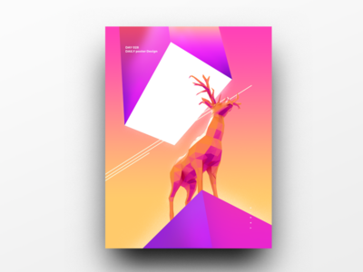 Poster Design Day 28 dailyposter dailyposterdesign graphic inpiration baugasm gradient abstract design poster