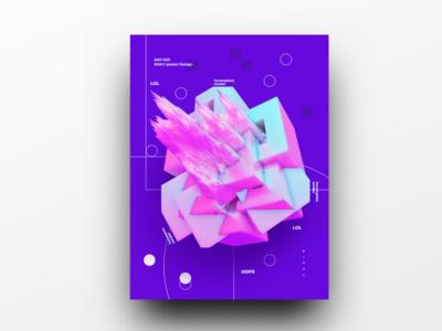 Poster Design Day 33 dailyposter dailyposterdesign graphic inpiration baugasm gradient abstract design poster