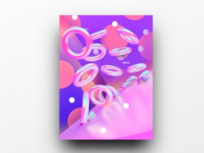 Poster Design Day 34 dailyposter dailyposterdesign graphic inpiration baugasm gradient abstract design poster