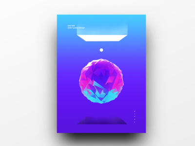 Poster Design Day 35 dailyposter dailyposterdesign graphic inpiration baugasm gradient abstract design poster