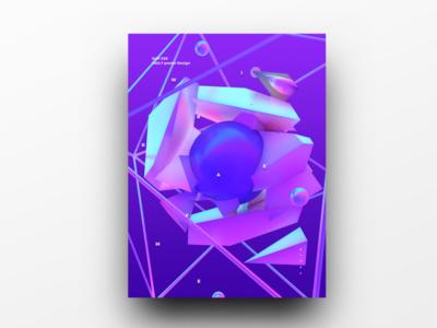 Poster Design Day 36 dailyposter dailyposterdesign graphic inpiration baugasm gradient abstract design poster