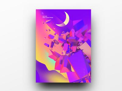 Poster Design Day 38 dailyposter dailyposterdesign graphic inpiration baugasm gradient abstract design poster