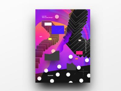 Poster Design Day 39 dailyposter dailyposterdesign graphic inpiration baugasm gradient abstract design poster