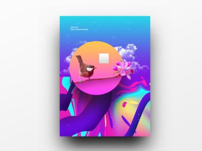 Poster Design Day 42 dailyposter dailyposterdesign graphic inpiration baugasm gradient abstract design poster