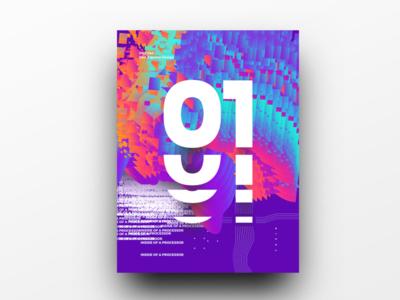 Poster Design Day 44 dailyposter dailyposterdesign graphic inpiration baugasm gradient abstract design poster