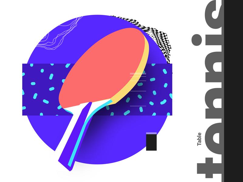 Table Tennis illustration minimal modern graphic inpiration poster baugasm abstract gradient design table tennis