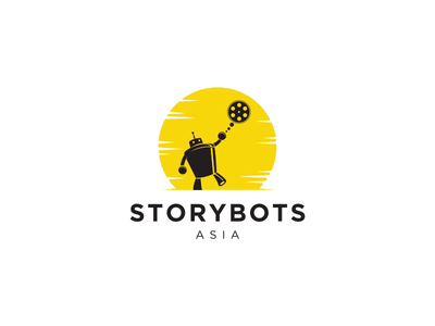 Storybots Asia website branding logo reveal outro intro web animation web gif 2d animation ux ui motion graphics animated logo logo animation animation logo after effects