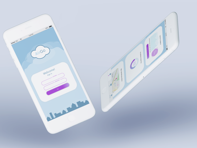 AirGo project airpollution uidesign ui  ux ui user interface logo sketch app concept