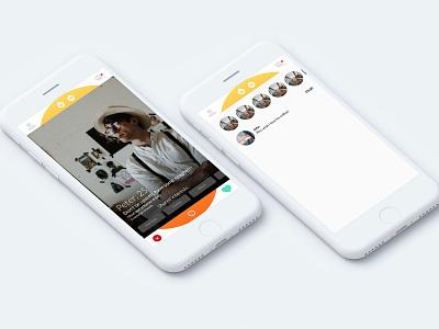 Friends app interface friends list friends app app design design sketch interface friends app concept app