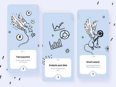 Onboarding - style Mailchimp onboarding illustration onboarding ui onboarding art ux mobile app app illustration mobile ui design branding ui