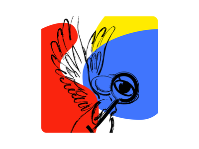 Fly away art illustration
