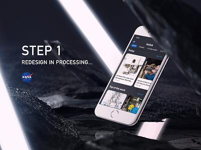 NASA flat mobile app design mobile apps mobile ui redesign dark space nasa mobile app app ux branding ui design