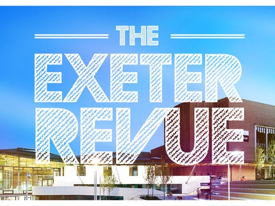 The Exeter Revue typography simple logo exeter branding society logo revue talent drama drama society type photo filter