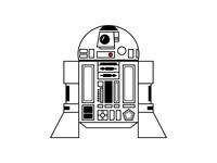 R2D2 vector character design freelance design starwars illustration sketch character robot r2d2