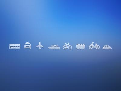 Transport Icons transport icons free download psd illustration vector car bus plane motorbike transport icons free icons icon download freebie